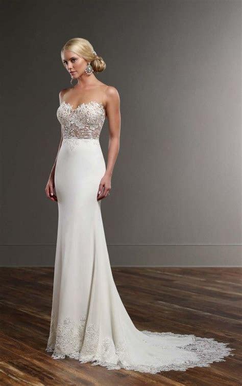 Illusion Back Wedding Dress   Unique Wedding Dresses