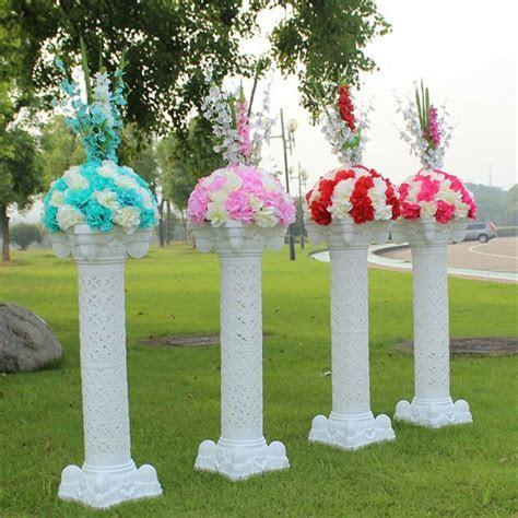"""2 8 PACK 40"""" Plastic Roman Pillars Column PVC Cake Flower"""