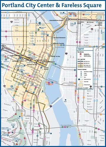 Portland City Center and Fareless Square