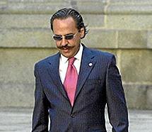 Pérez, en la boda de la hija de Aznar. | C. Miralles