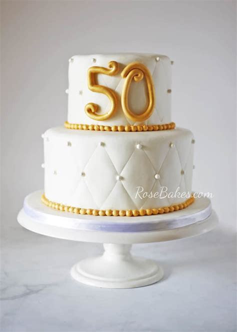 How To Decorate A 50th Anniversary Cake   Cake Recipe