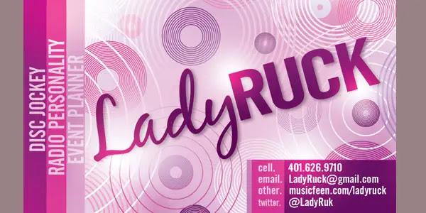 DJ LADY RUCK Business Card