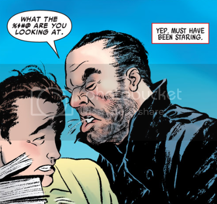 from Amazing Spider-Man #577, by Zeb Wells and Paolo Rivera