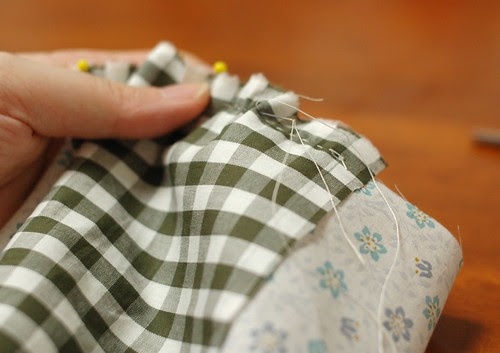 How to make a patchwork cube drawstring bag 5