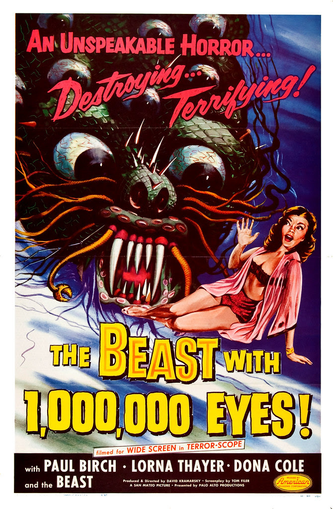 Albert Kallis - The Beast with 1,000,000 Eyes! (American Releasing Corp., 1955) One Sheet