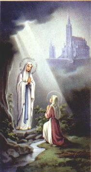 Maryja Niepokalana objawia się św. Bernardecie w Lourdes