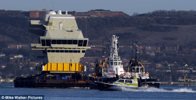 Peluncuran Kapal Induk Canggih Inggris HMS Queen Elisabeth.