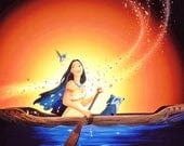 Giclee Fine Art Print picture on Canvas art decoration ( Disney characters Posters Pocahontas )
