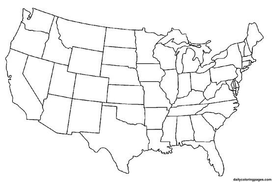 Map United States Blank | denbtk