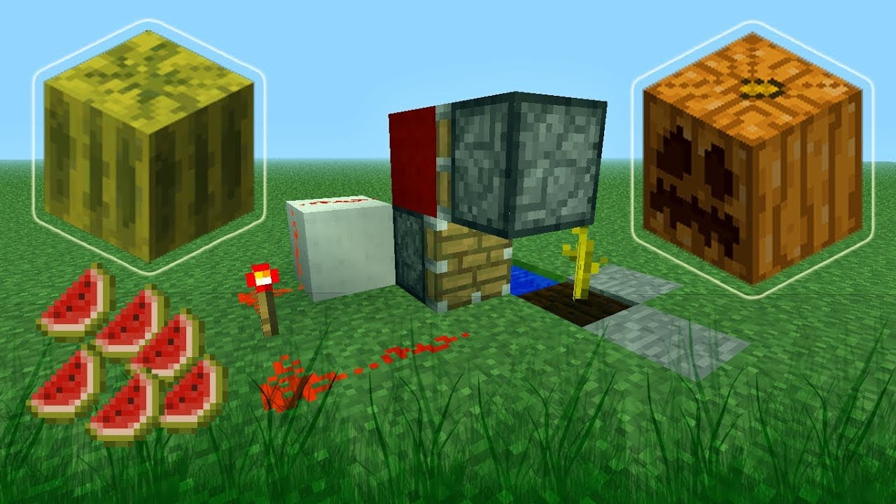 Minecraft How to Build a Fully Automatic Melon and Pumpkin ...