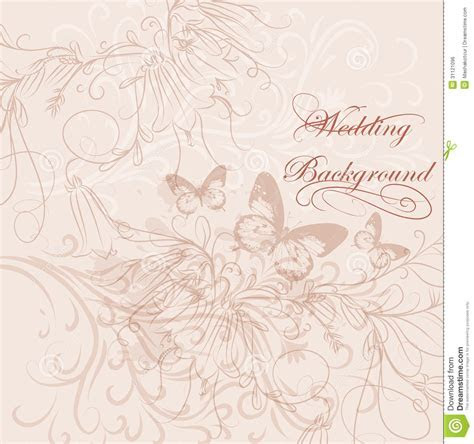 Wedding Invitation Card In Pastel Colors Royalty Free
