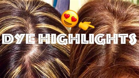 hair highlights dye  black  dark brown hair