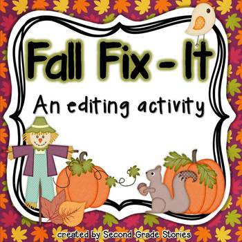 Fall Fix-It ~ an editing activity