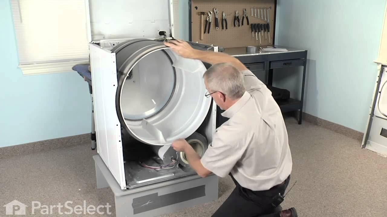 Dryer Repair - Replacing the Multi Rib Belt (Whirlpool ...
