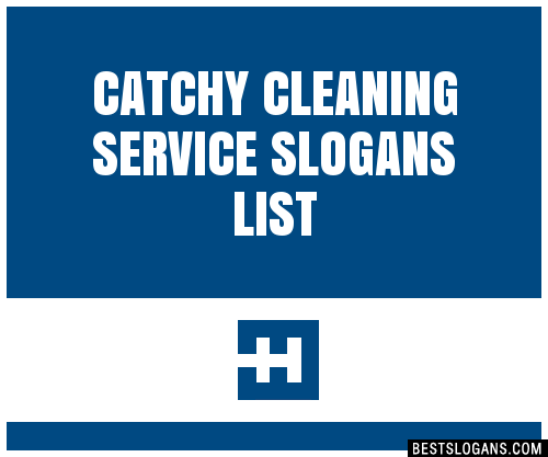 catchy cleaning service slogans list 201709_1735