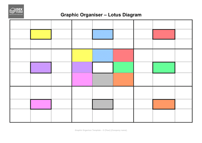Lotus Diagram Template In Word And Pdf Formats