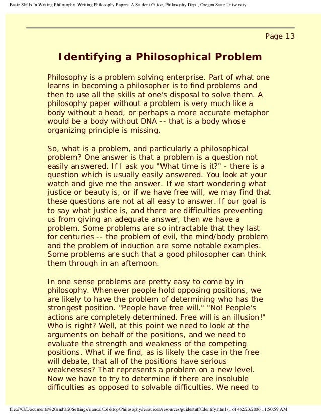 how to write a philosophy essay x 1