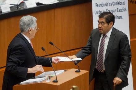 Bartlett y Barbosa en el Senado. Foto: Octavio Gómez