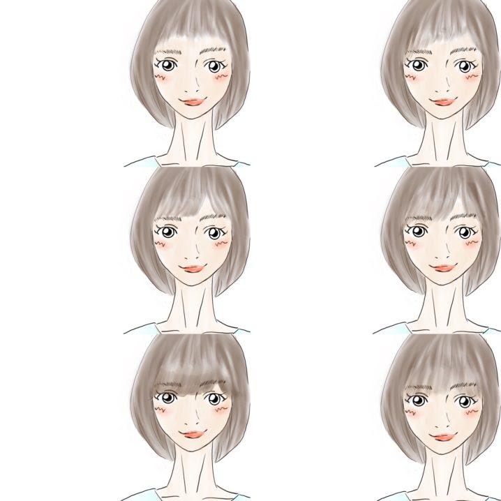 イラストでわかるバング前髪の種類一覧① 解説付き Lilou
