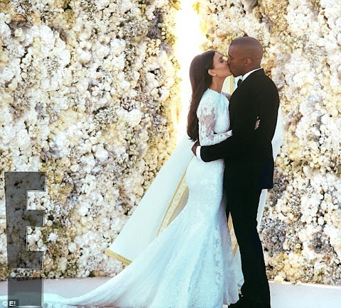 First look into Kim Kardashian and Kanye West's lavish Italian wedding... as her dress is FINALLY revealed