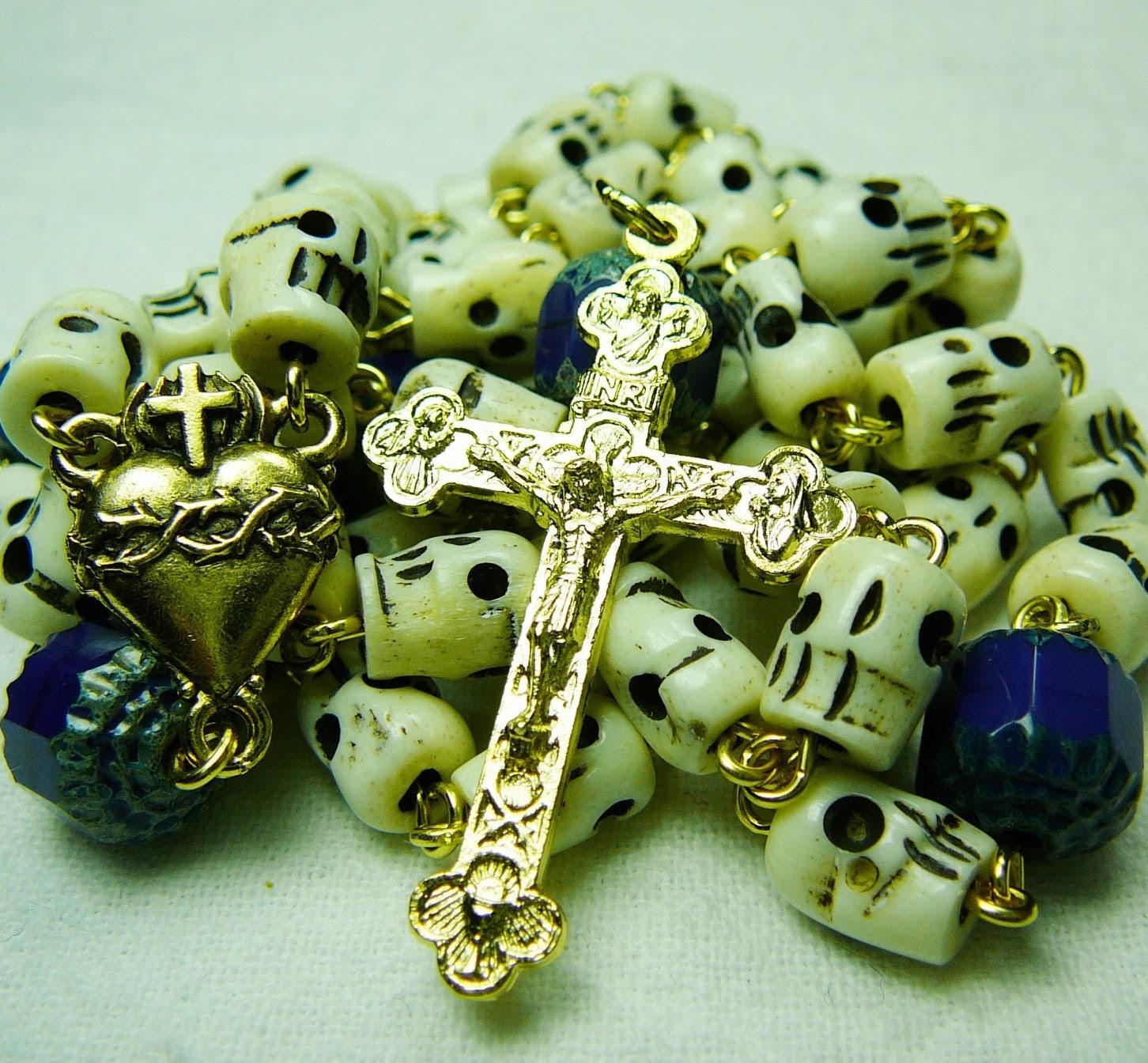 Bone and Blue Rosary