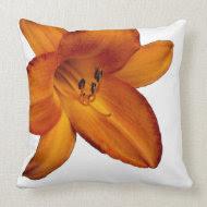Orange flower pillow throwpillow