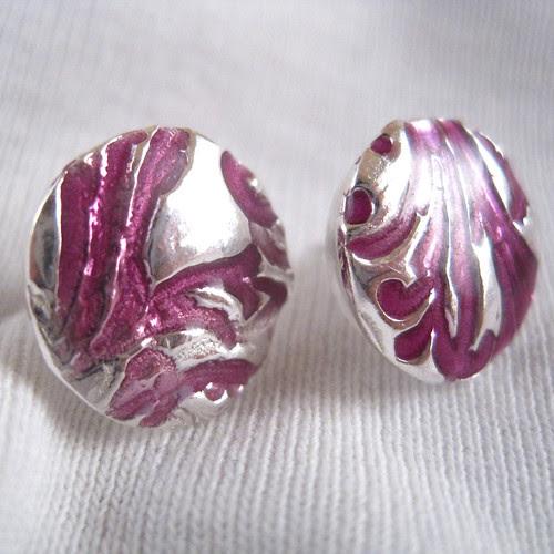 Fine Silver Purple Enamel  by EmilyMah
