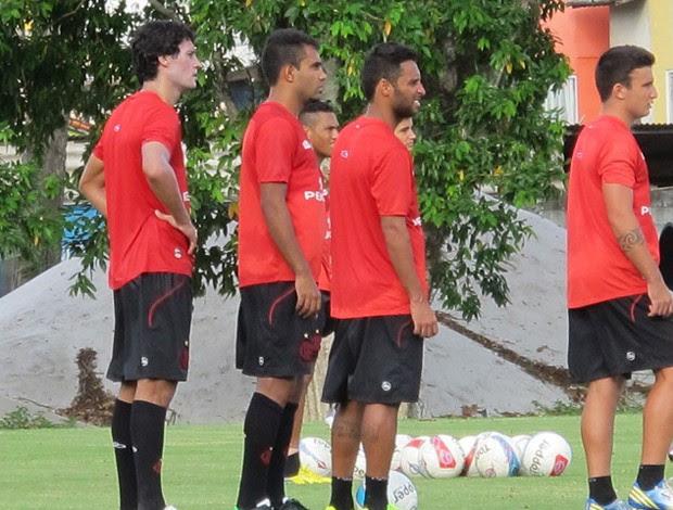 Renato Santos e Ibson Flamengo treino (Foto: Richard Souza)