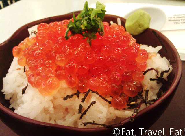 Daikokuya- Arcadia, CA: 1/2 size Salmon Roe Rice Bowl