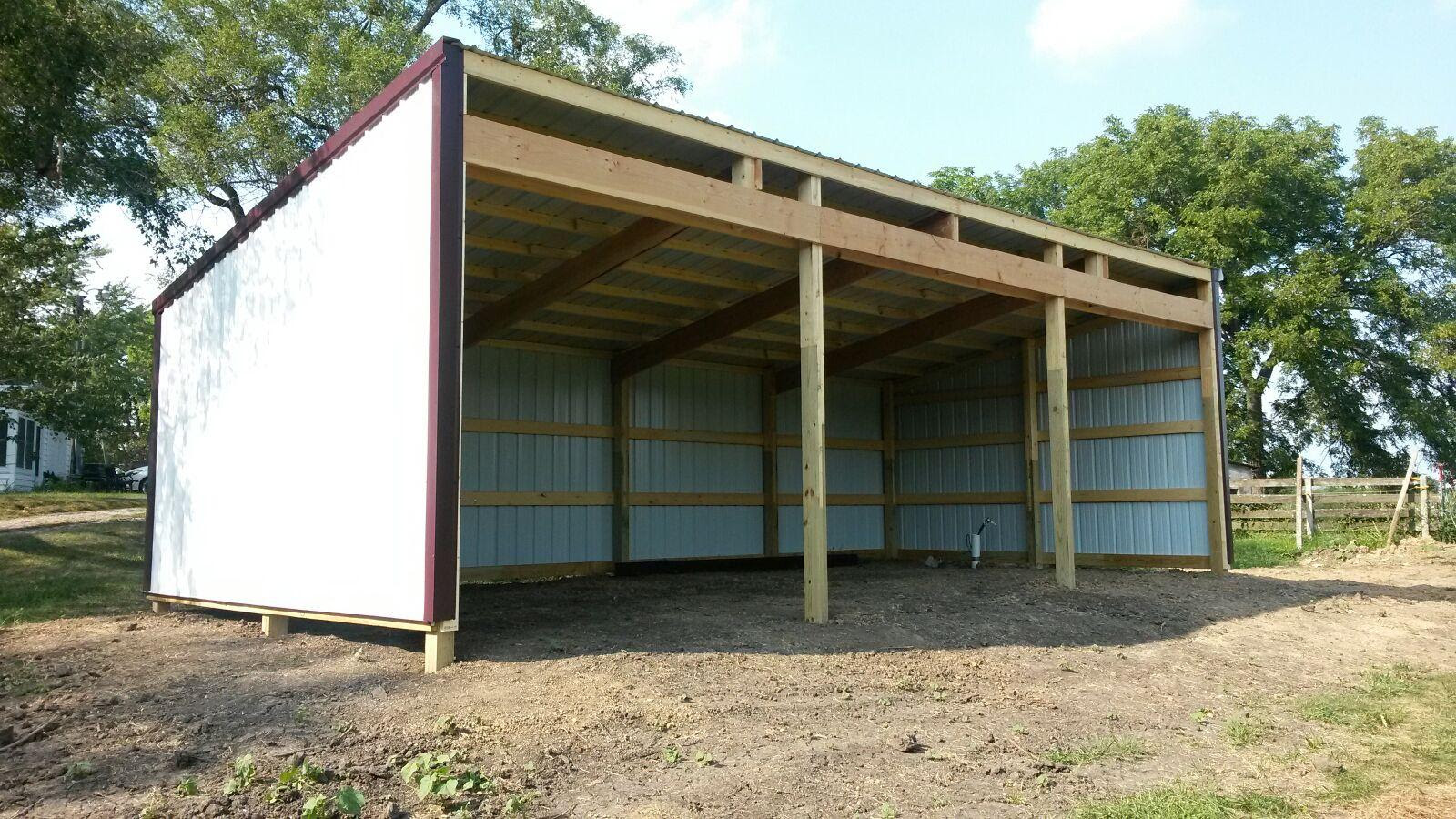 Dominic Shed: Pole barns with lean to