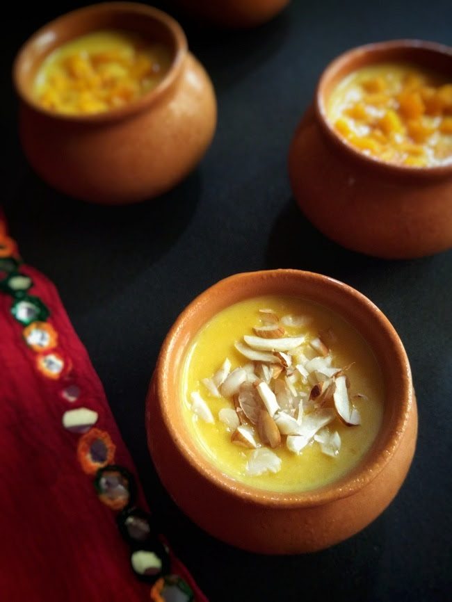 Mango Phirni | Mango Rice Pudding | Tempting Treat