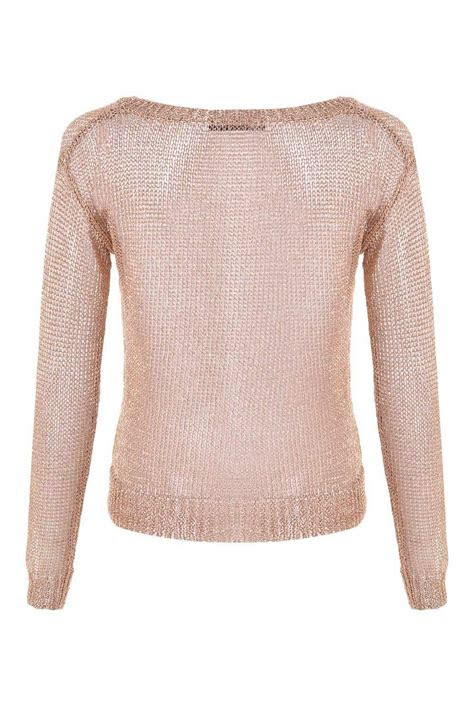 glamorous tina loose knit sweater  rose gold iclothing