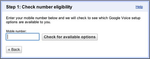 Check number eligibility
