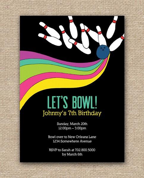 Bowling Party Invitation Design - DIY Printables, Bowling invitations, bowling party invitations, bowling alley, bowling pins, bowling shoes, birthday bowling party invitations, Announcements, Birthday Celebration, Birthday Cards