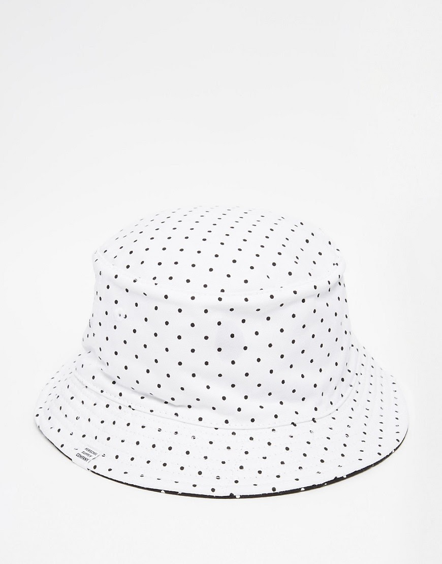 Image 1 ofHerschel Supply Co Lake Reversible Bucket Hat