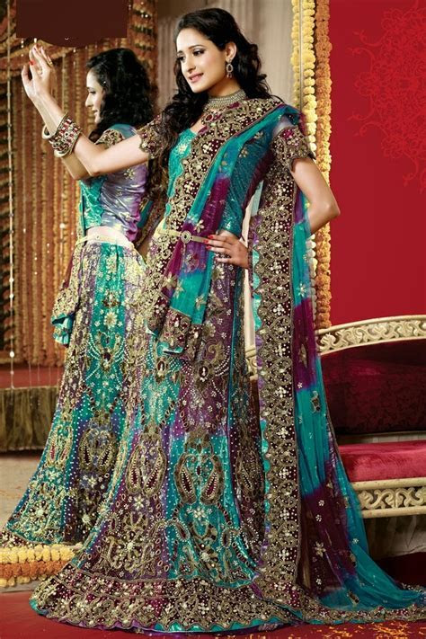 Latest Bridal Lehengas Collection At New Year 2014   WFwomen