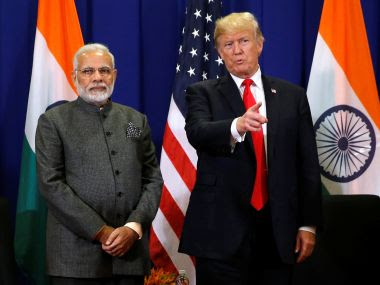 File image of Prime Minister Narendra Modi with US President Donald Trump. Reuters