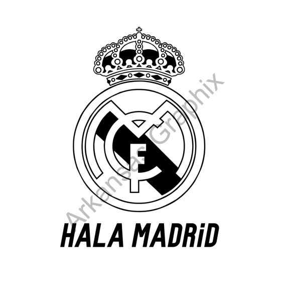 Real Madrid Logo Drawing At Getdrawingscom Free For Personal Use