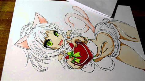 drawing anime neko girl youtube