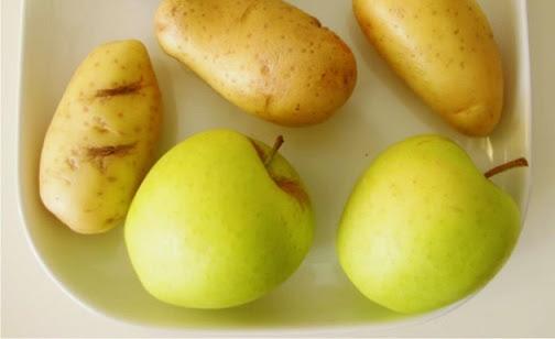 papas y manzanas