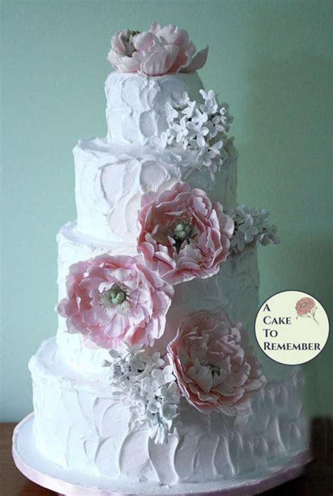 Gumpaste Peonies And Lilacs For Wedding Cake, Sugar