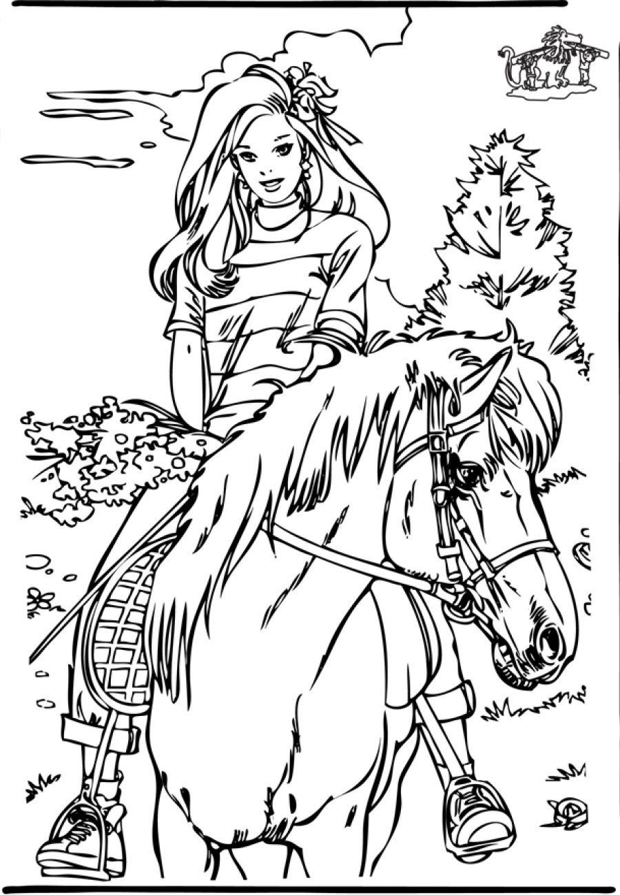 Kleurplaat Paard Is Ziek Geweldige Paard Met Veulen Kleurplaat Krijg Duizenden