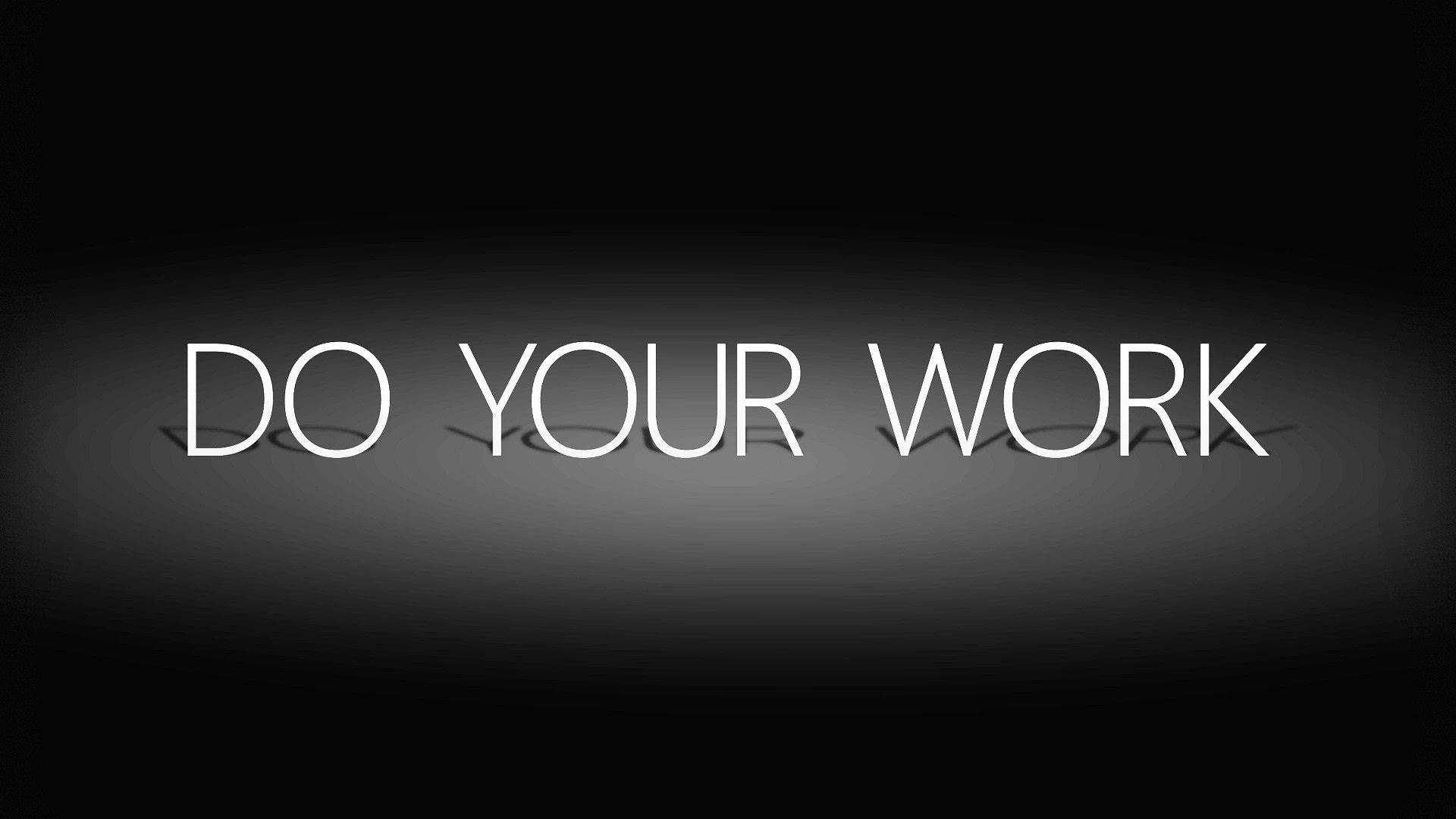 Do Your Work Cohren