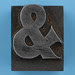 metal type ampersand