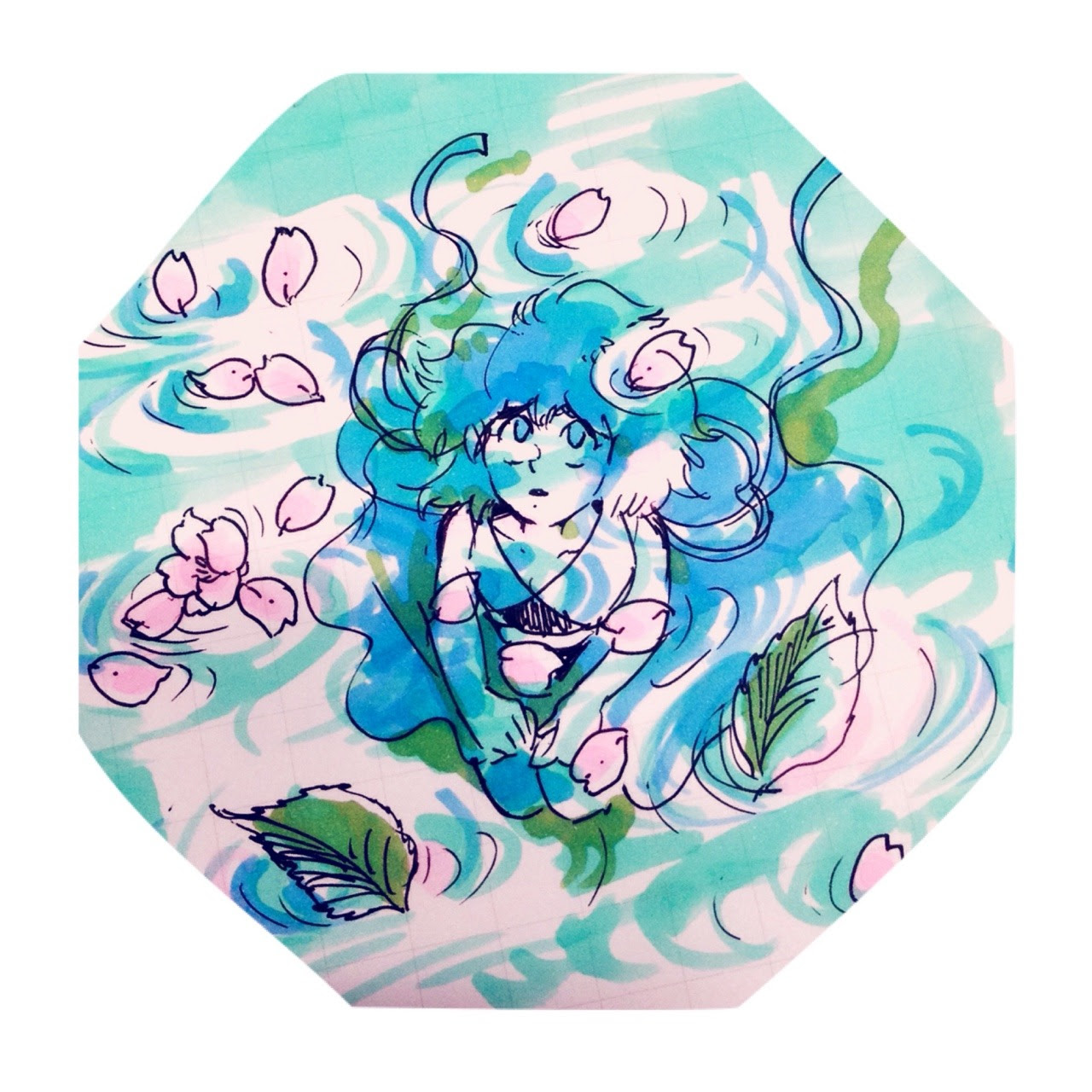 a loose doodle of Spring Lapis