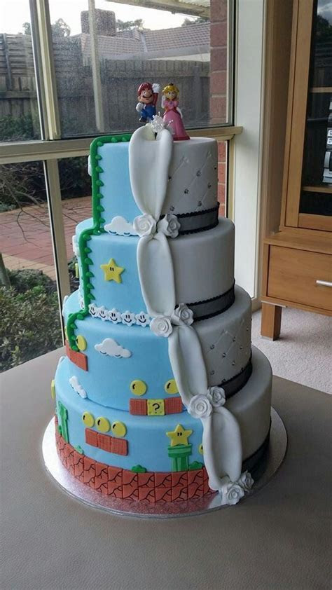 Mario and Peach Themed Wedding Cake   for every couple