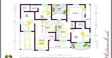 bed room house plan  room dimensions architecture