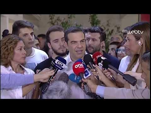 Τσίπρας: Δήλωση μετά την άσκηση του εκλογικού δικαιώματος
