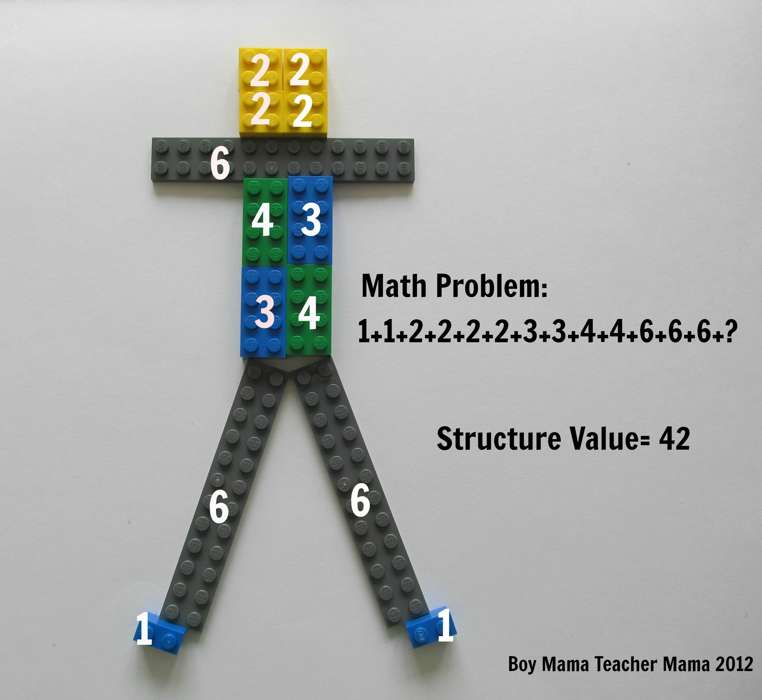 Boy Mama Teacher Mama: Lego Structure Math