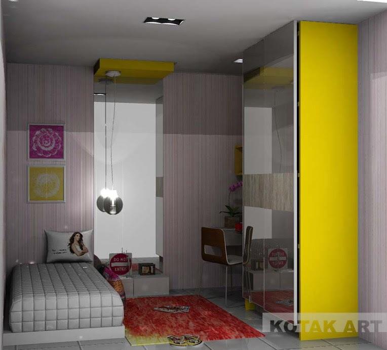 Kamar tidur untuk remaja kotakinterior